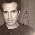 The signed Copperfield poster Luca still treasures!